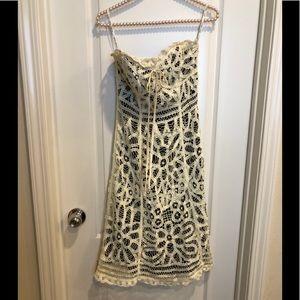 Betsey Johnson ivory Eyelet Lace Slip Dress